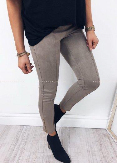 Spodnie ENJOY zamszowe mocca