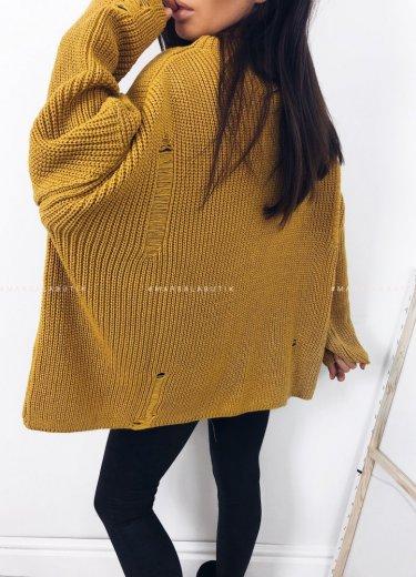 Sweter oversize musztarda - COCONUT