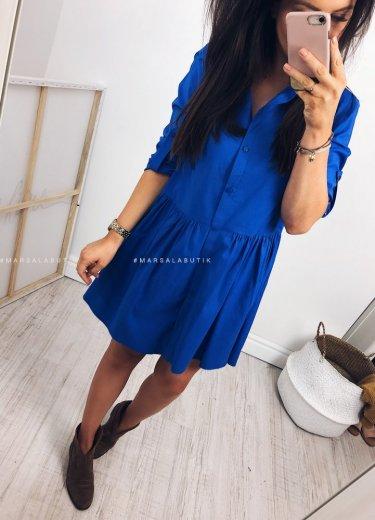 Sukienka NAPOLI w kolorze kobaltowym