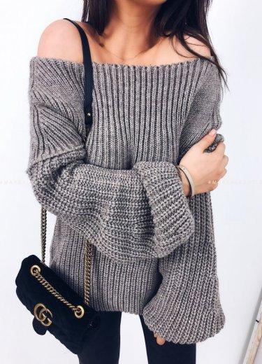 Sweter/tunika tuba mocca - FLOSS