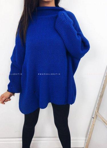 Sweter COCONUT oversize kobalt