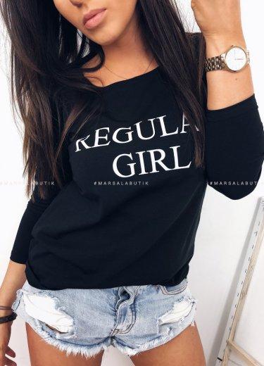 Bluzka REGULAR GIRL - czarna