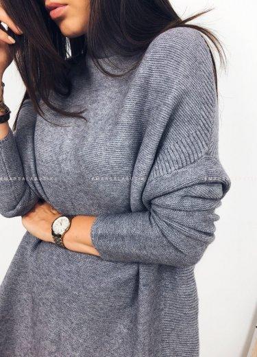 Sweter SWEEP półgolf oversize szary