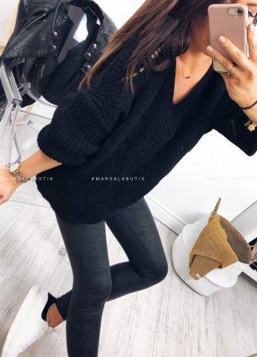 Sweterek WOLVES czarny