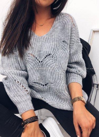 Sweterek WOLVES szary