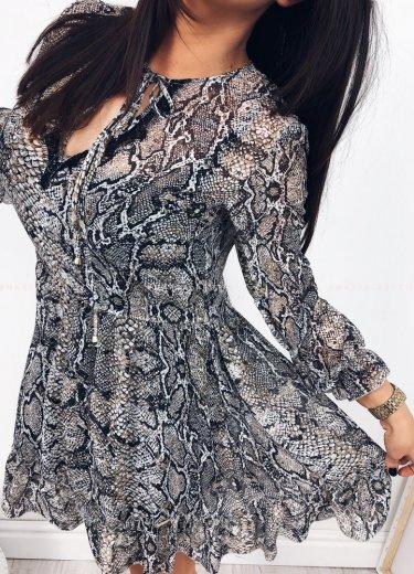 Sukienka CHESIL w wężowy wzór