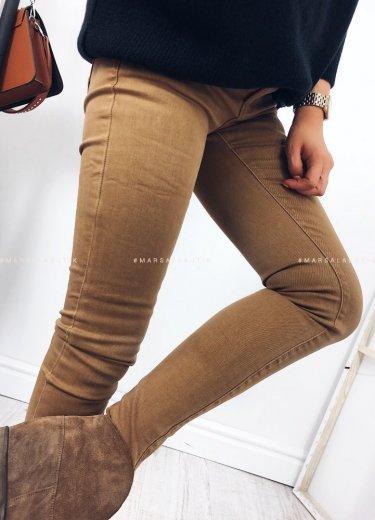 Spodnie w kolorze camelowym - HONEY
