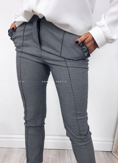 Spodnie cygaretki SUPREME w pepitkę