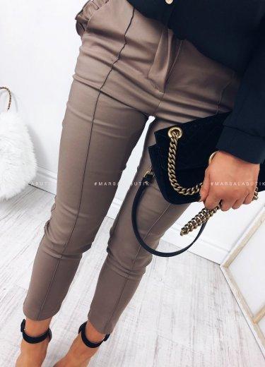 Spodnie cygaretki beżowe - SUPREME