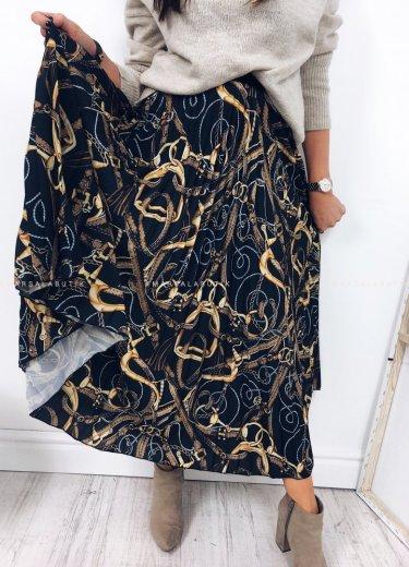 Spódnica plisowana czarna - CHANGE