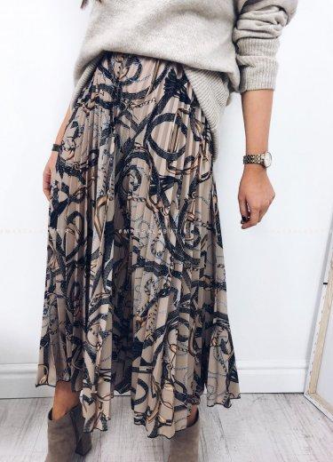 Spódnica plisowana beż - CHANGE