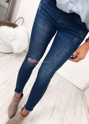 Jeansy TROUBLE z zamkami na nogawkach