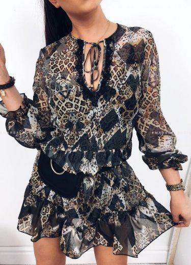 Sukienka CHESIL grey print