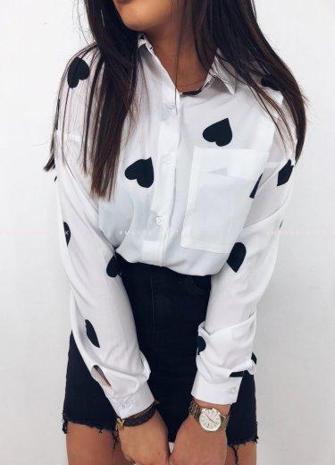 Koszula LOVELY w czarne serca