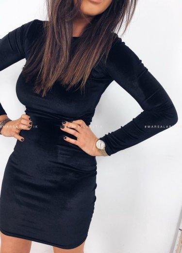 Sukienka KYLIE welurowa czarna