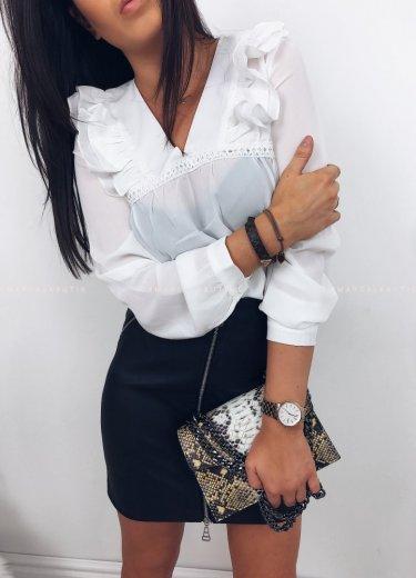 Bluzka CANDLE biała z prześwitem