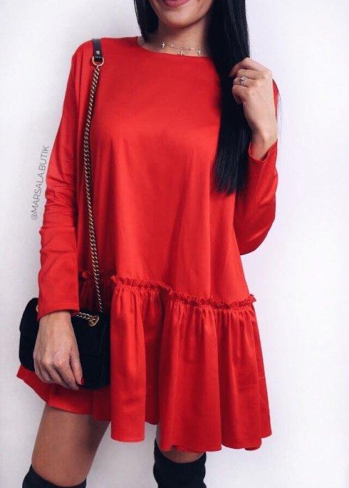 Sukienka VANILLA - czerwona