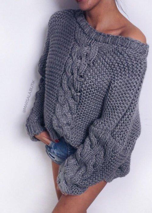 Sweter DIVA - szary