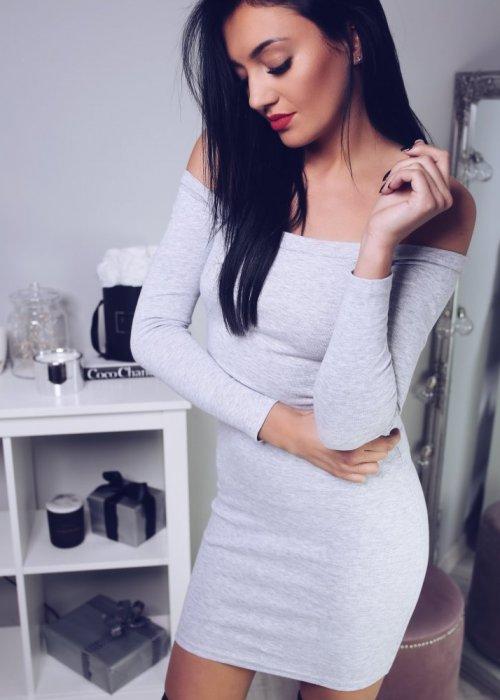 Sukienka KIM - szara