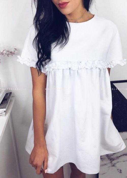 Sukienka LULLA w kolorze białym