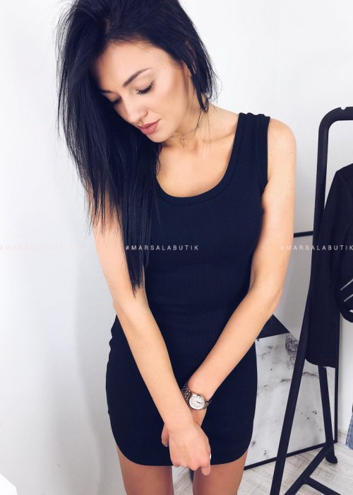 Sukienka BOKSERKA czarna