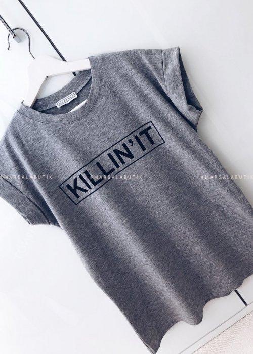 T-shirt szary KILLIN