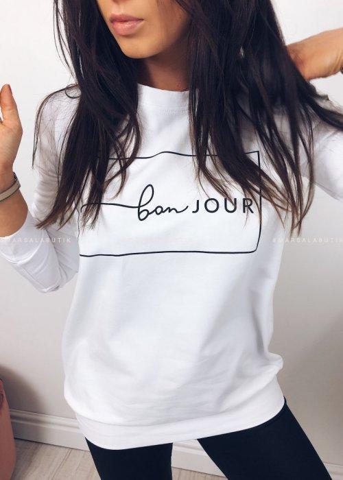 Bluza BONJOUR biała