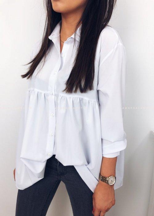 Koszula JANET z baskinką biała