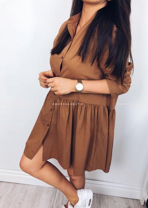 Sukienka w kolorze mocca - NAPOLI