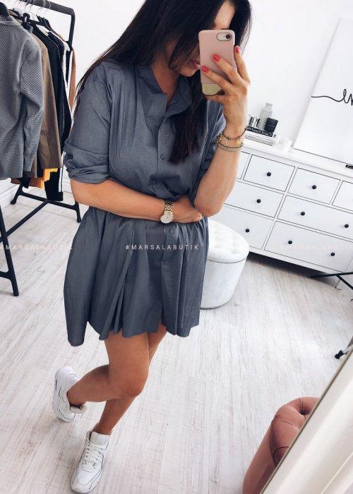Sukienka w kolorze grafitowym - NAPOLI