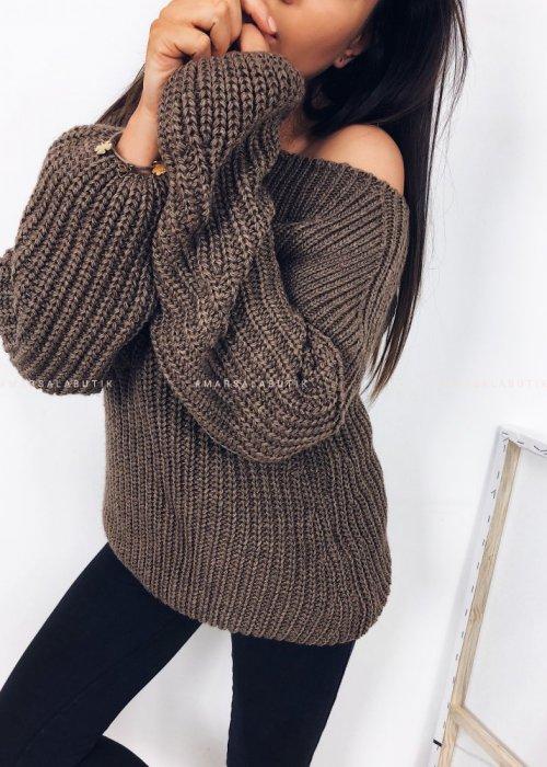Sweter/tunika tuba capuccino - FLOSS