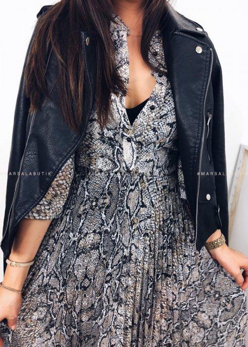 Sukienka TAMARA MAXI - wężowy print