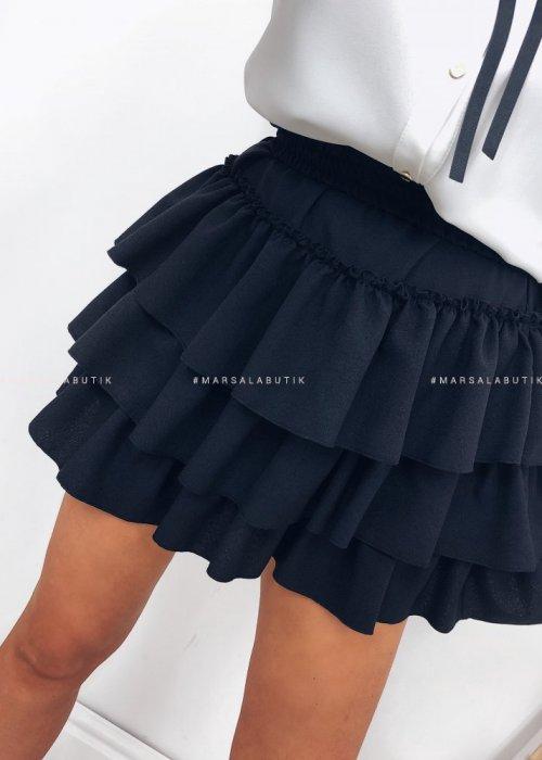 Spodniczka JANE z falbankami - czarna