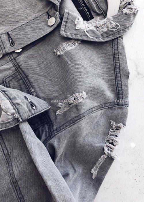 Katana BRAND jeansowa w kolorze szarym z dziurami
