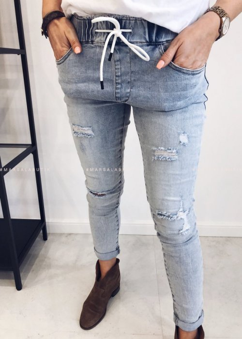Denim jeans with elastic – REPLAY