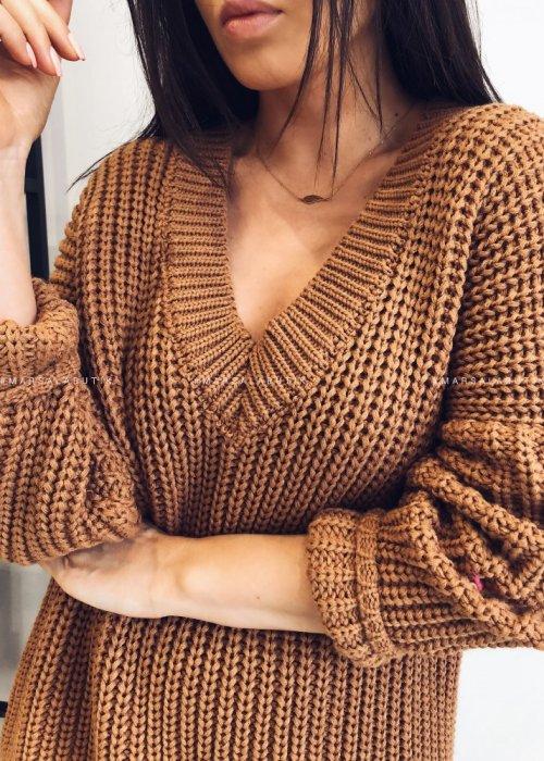 Sweter V camel - COVER