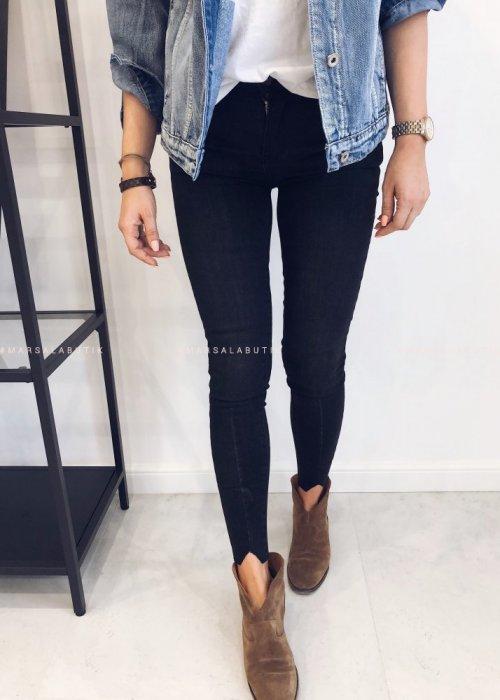 Spodnie jeansowe czarne - NIGHT