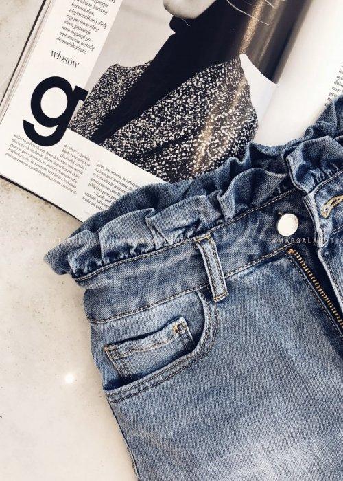 Spódniczka BONITA jeansowa z falbanką