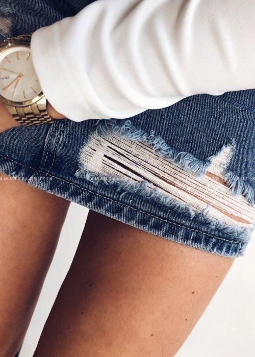 Spódniczka EVRA jeansowa z dziurami