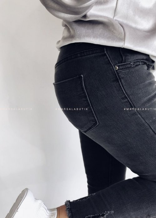 POINT gray smooth jeans
