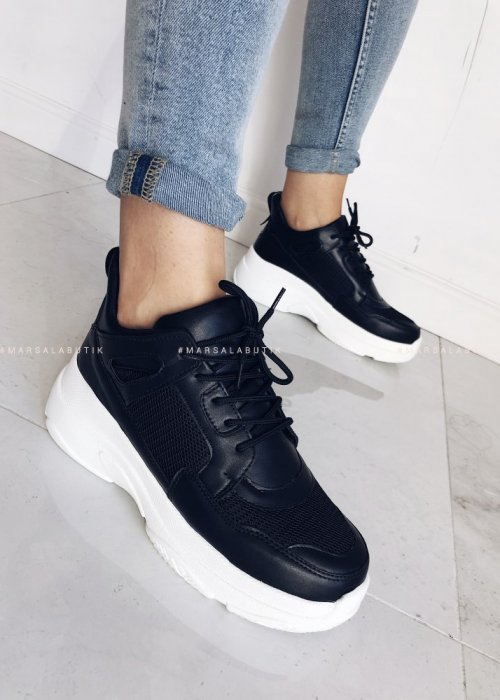 NEW RULES black sneakers