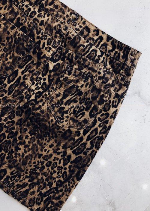 LEOPARD mini-skirt