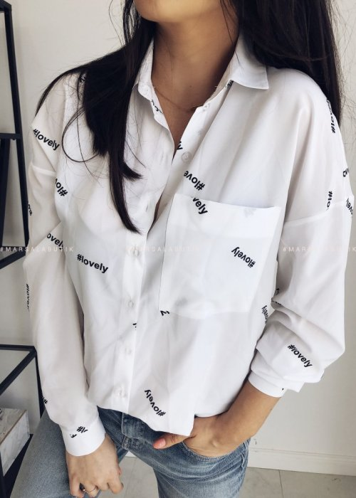 LOVELY shirt with hashtag