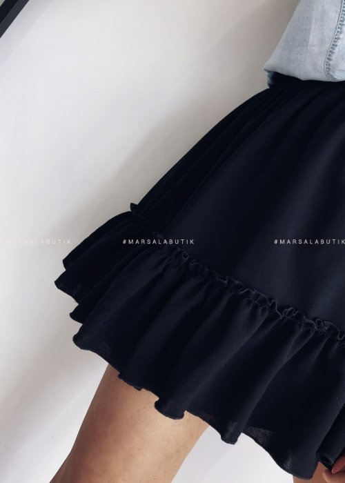 Frill black dress – FIRST