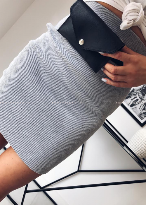MINI TUBE SKIRT grey