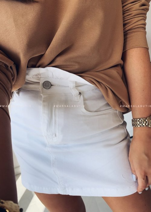 Spódniczka BONITA z falbanką biała
