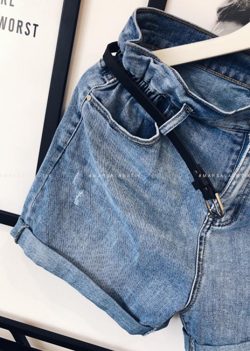 Spodenki jeansowe z paskiem UNITED