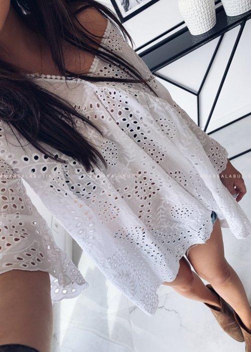 Tunika CHILLI ażurowa biała