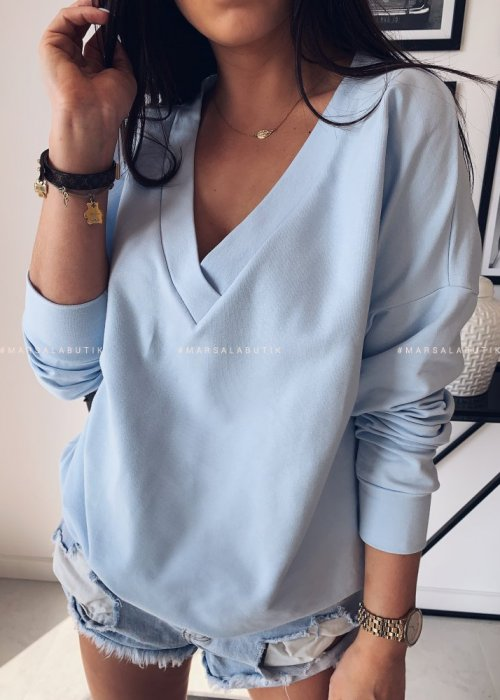 POPULAR long sleeved tunic – blue
