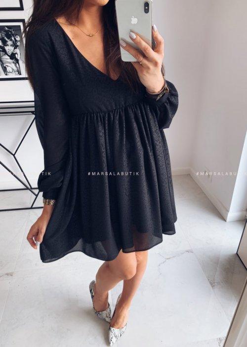Sukienka VIRGIN z printem cętki
